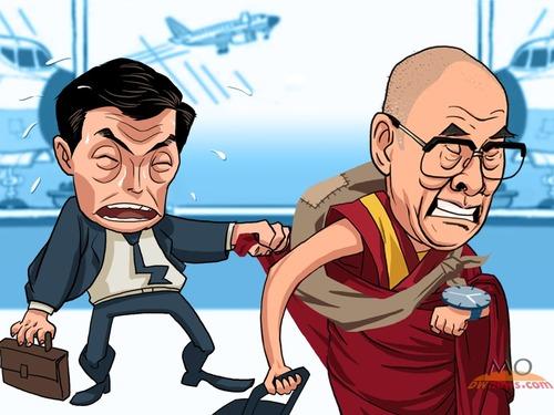 """达赖喇嘛终止流亡 收""""一箭多雕""""之效"""