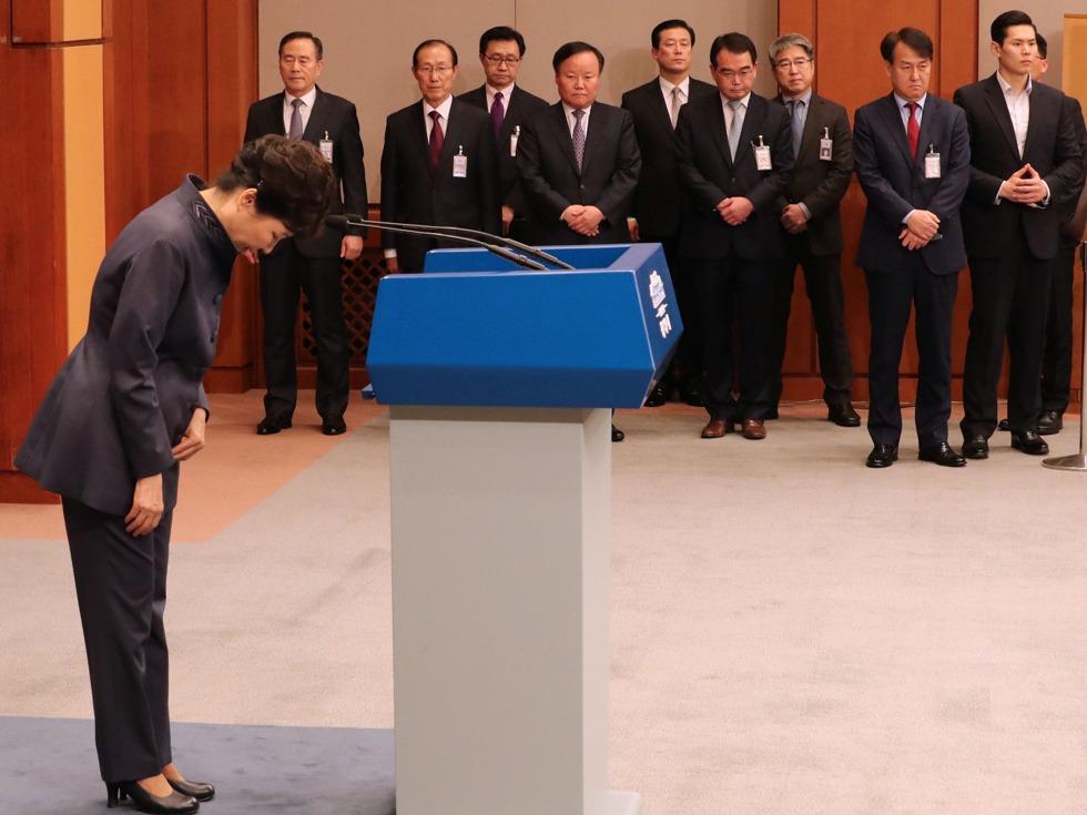 朴槿惠下台危机!韩国爆发弹劾总统运动 - 纽约文摘 - 纽约文摘